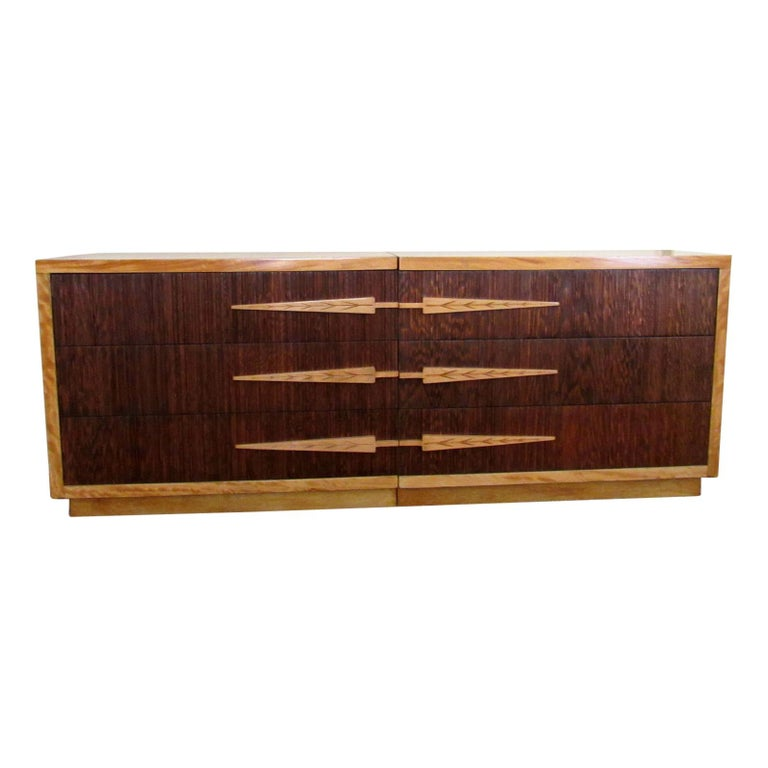 Mid-Century Modern  Mirror Image Dressers by Modernage  For Sale