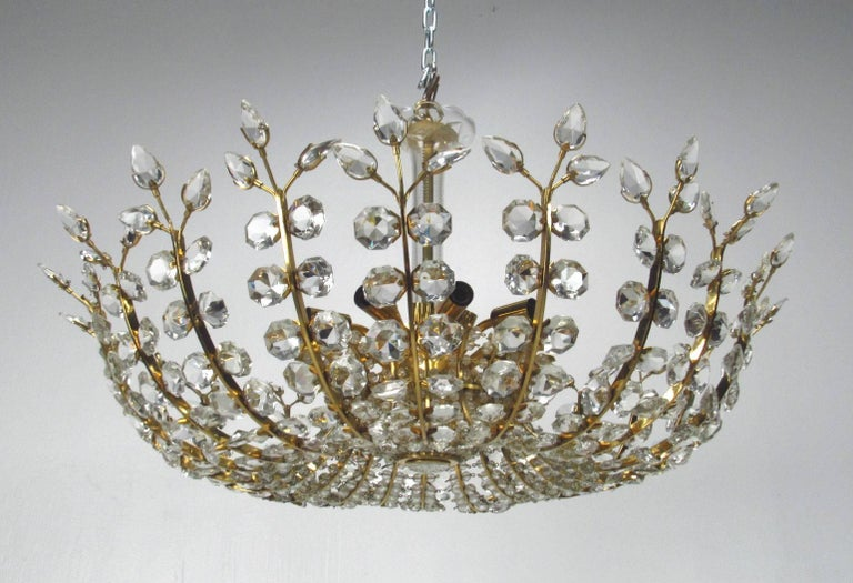 Crystal Chandelier by Oswald Haerdtl for Lobmeyr, circa 1950s In Good Condition For Sale In Surprise, AZ