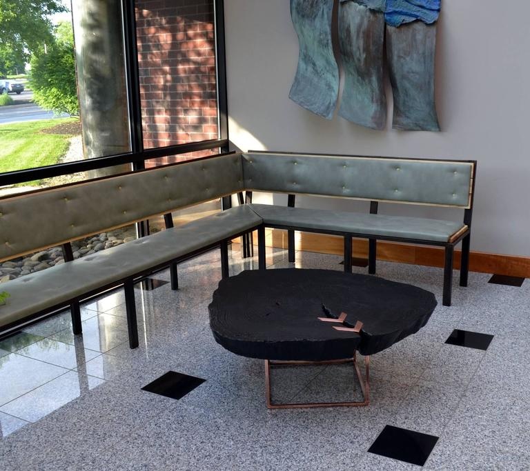 Modern Copper Coffee Table: Character Coffee Table, Contemporary Modern, Wood And