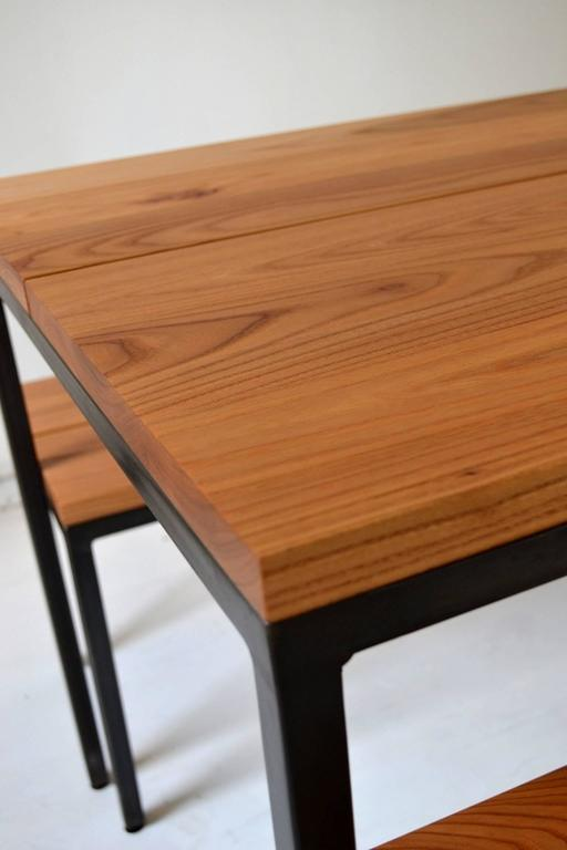 Atsuko table with nesting benches dining