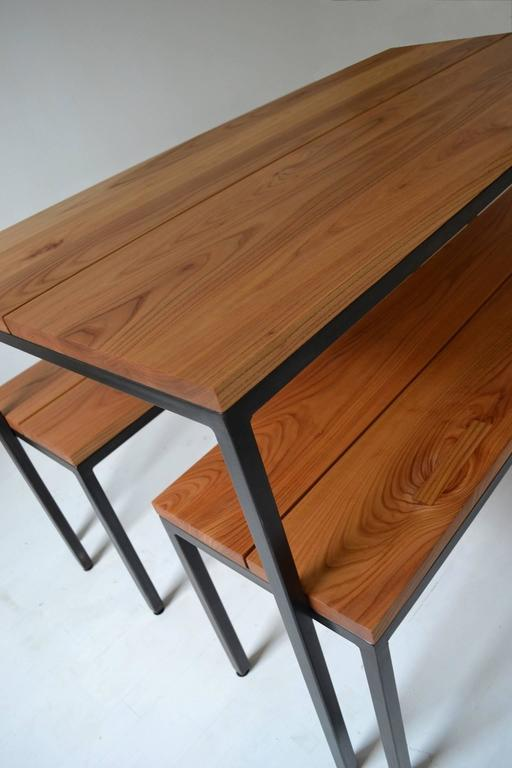 Nesting Dining Tables ~ Atsuko table with nesting benches dining