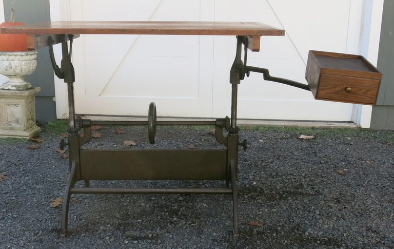 Antique Hamilton Drafting Table Industrial Table For Sale 1