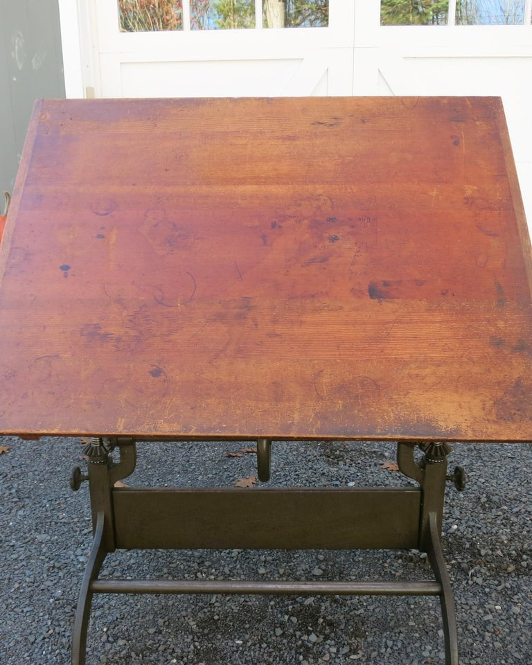Antique Hamilton Drafting Table Industrial Table For Sale 5