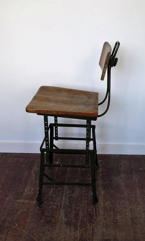 Vintage Industrial Factory Stool For Sale At 1stdibs