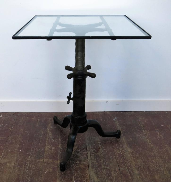 Original satellite adjustable table Co. Grand Rapids Mich. It raises from 22 3/4