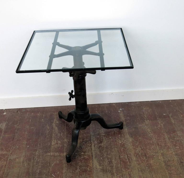 Mid-20th Century Vintage Industrial Satellite Adjustable Table For Sale