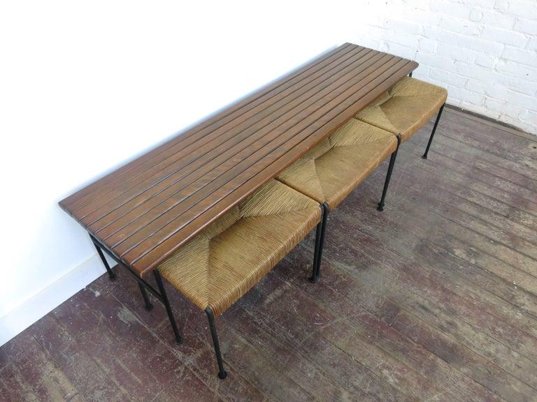 Arthur umanoff maple bench and set of stools for raymor for sale arthur umanoff maple bench and set of stools for raymor 2 sciox Image collections