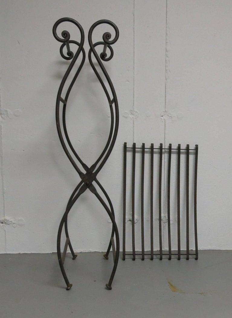 Fine Vintage Iron Folding Bench Machost Co Dining Chair Design Ideas Machostcouk