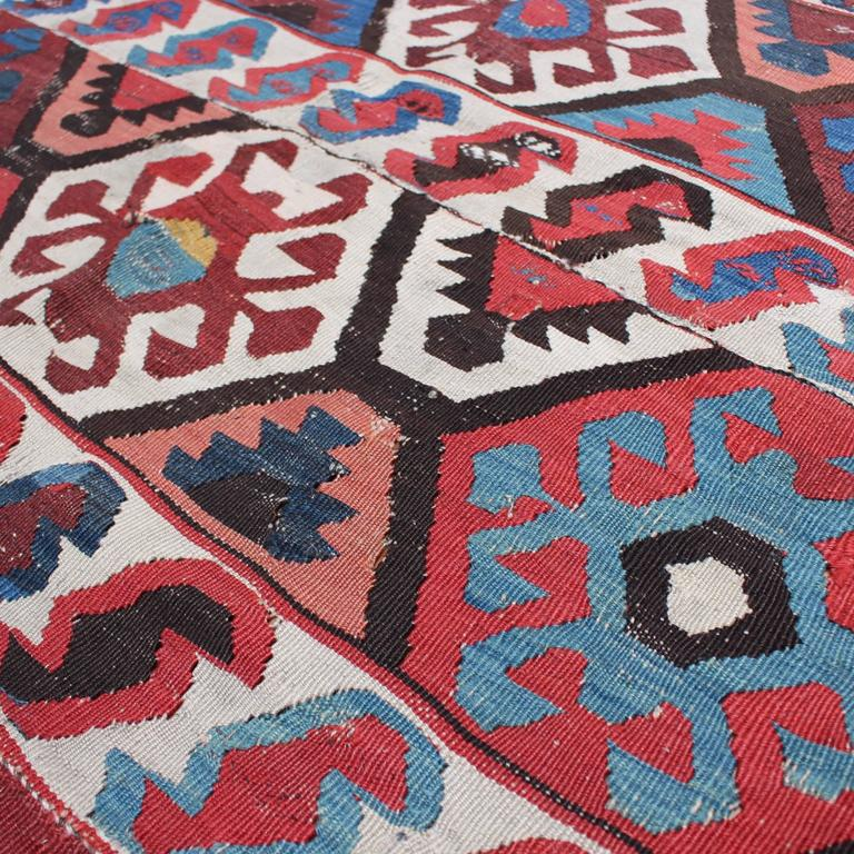 Turkish Kilim Antique Rug, Circa Early 1900s For Sale At
