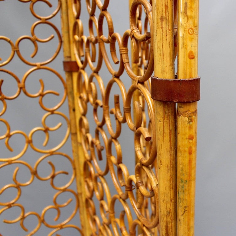French Rattan Room Divider, circa 1960s For Sale 3