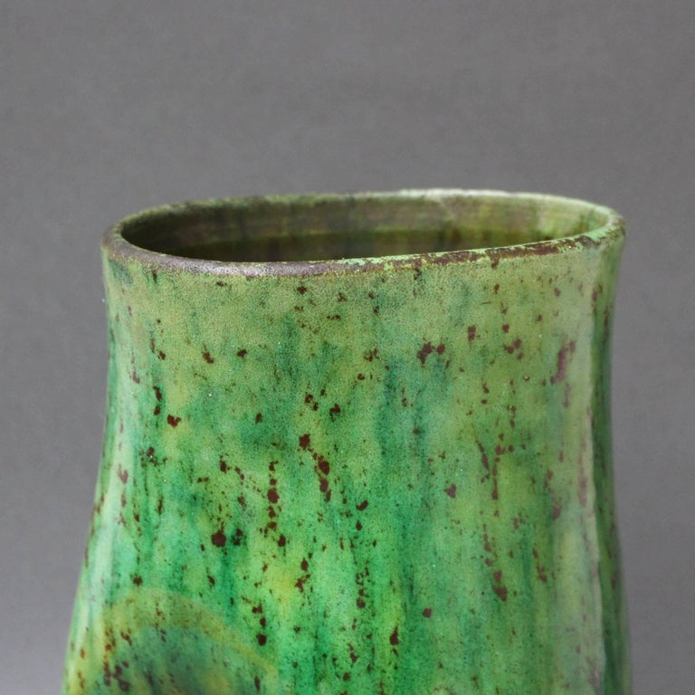 Ceramic Green Vase by Accolay, circa 1960s For Sale 4