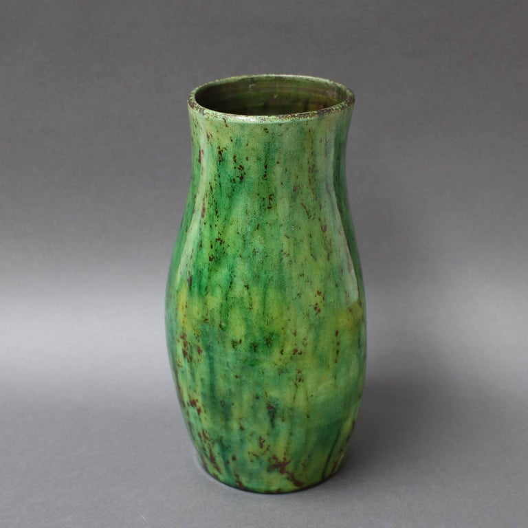 Ceramic Green Vase by Accolay, circa 1960s For Sale 2