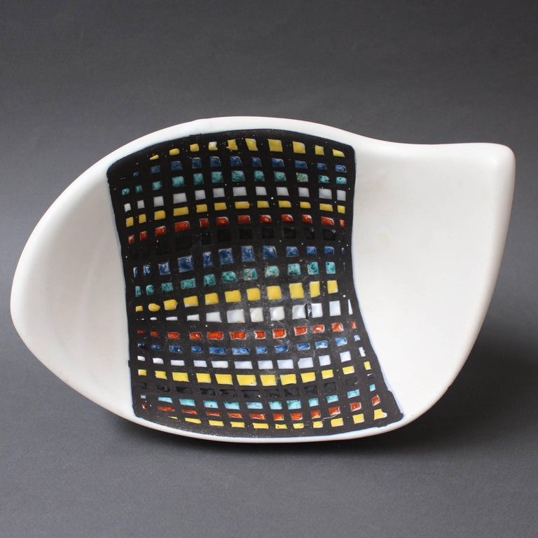 Mid-Century Ceramic Bowl by Roger Capron, Vallauris, France, 1950s 7