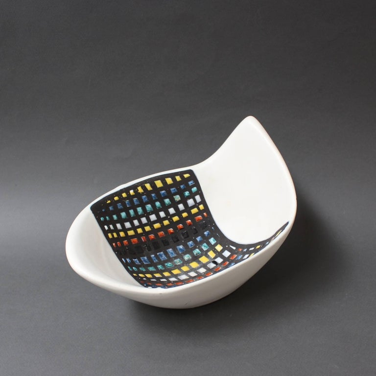 Mid-Century Ceramic Bowl by Roger Capron, Vallauris, France, 1950s 8
