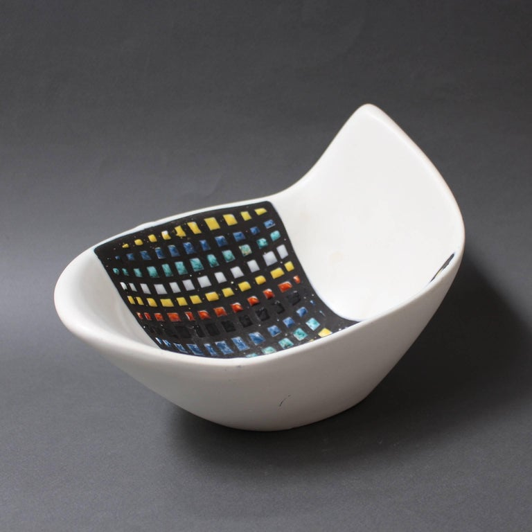 Mid-Century Ceramic Bowl by Roger Capron, Vallauris, France, 1950s 9