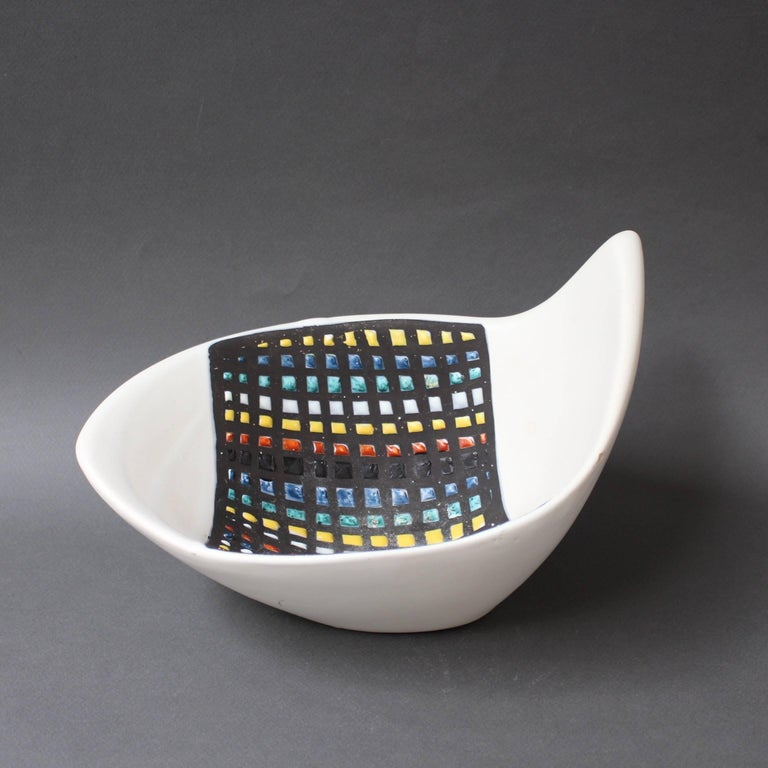 Mid-Century Ceramic Bowl by Roger Capron, Vallauris, France, 1950s 11
