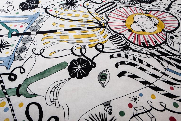 Contemporary Japanese Folklore, Hand-Knotted Rug Designed for Nodus by Jaime Hayon For Sale