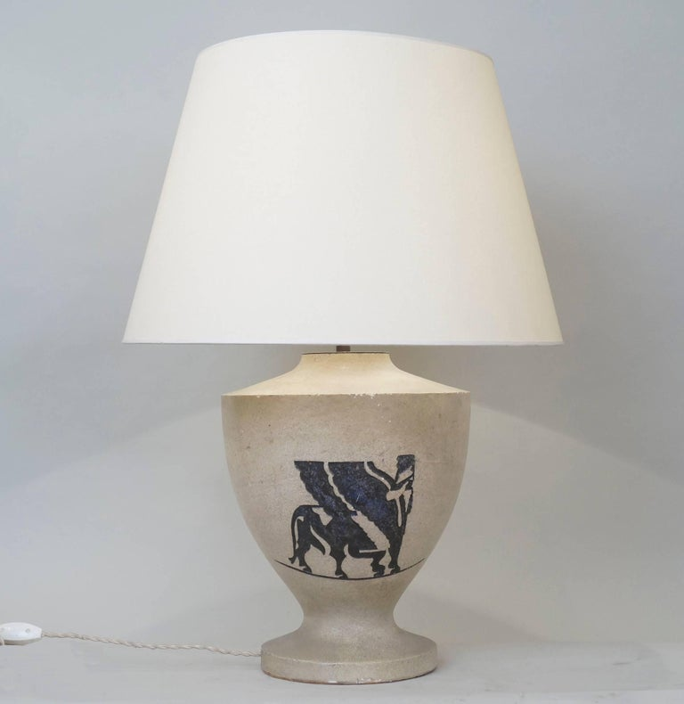 1940 stone engraved table lamp for sale at 1stdibs midcentury stone table lamp with a chimeric engraved custom made fabric lampshade rewired with greentooth Image collections