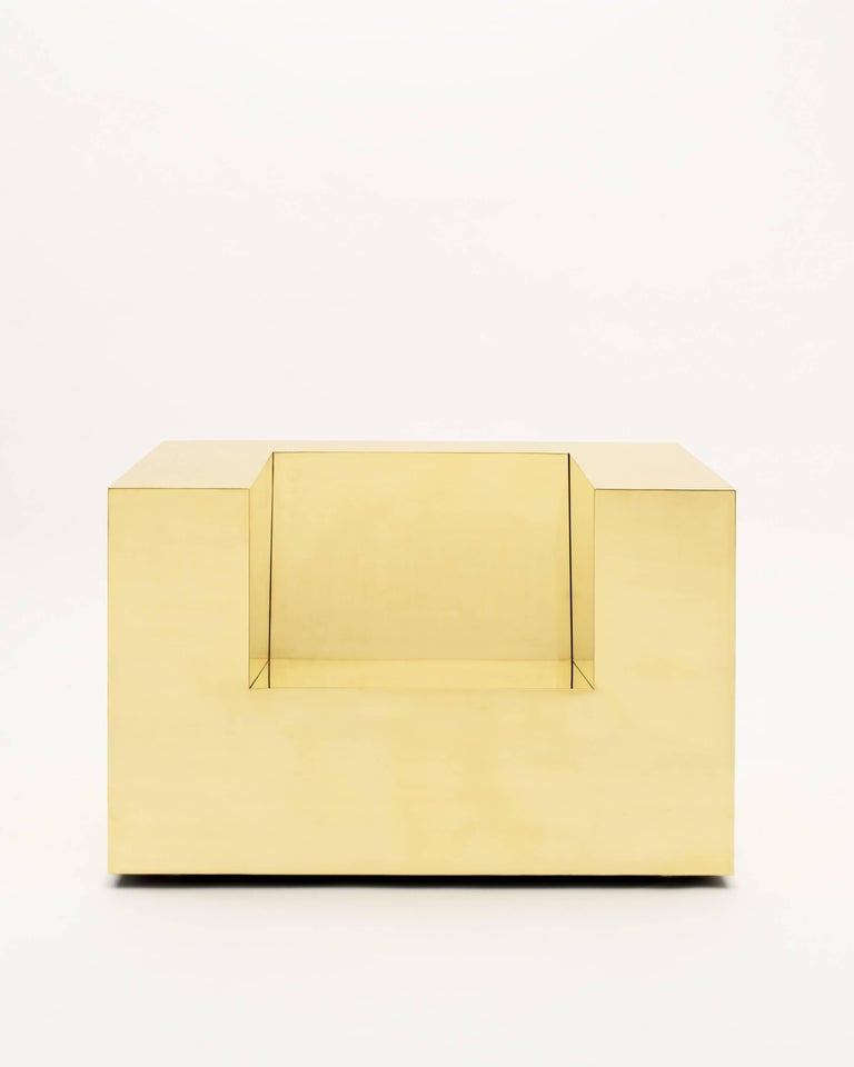 Subtracted Cube, 2015. Brass 28.5