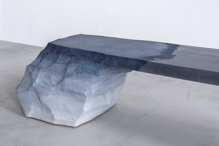 """Drift (Bench), 2016 Sand and cement 18"""" H x 72"""