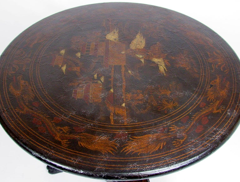 20th Century Chinoiserie Style Side Table For Sale 4