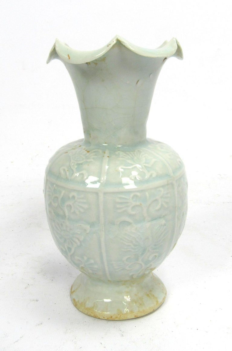 Set of Two Early 20th Century Celadon Vases For Sale 3