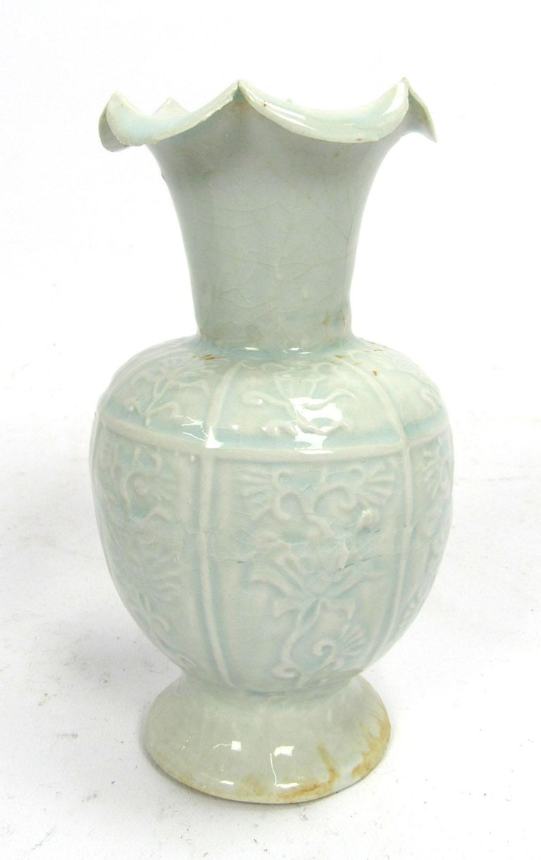 Set of Two Early 20th Century Celadon Vases For Sale 4