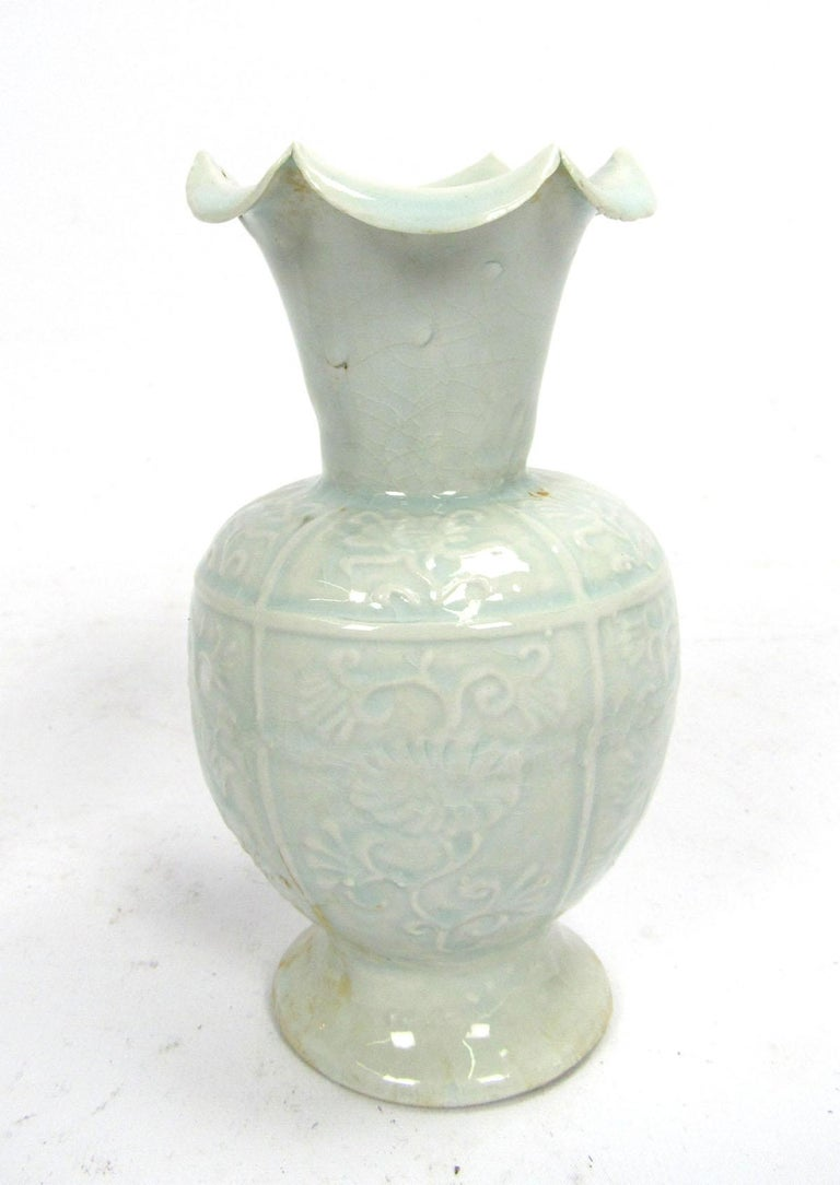 Set of Two Early 20th Century Celadon Vases For Sale 5