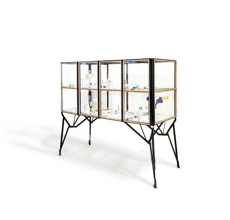 Other 4 x 2 Blk Oak Showcase Cabinet by Paul Heijnen, Handmade in Netherlands For Sale