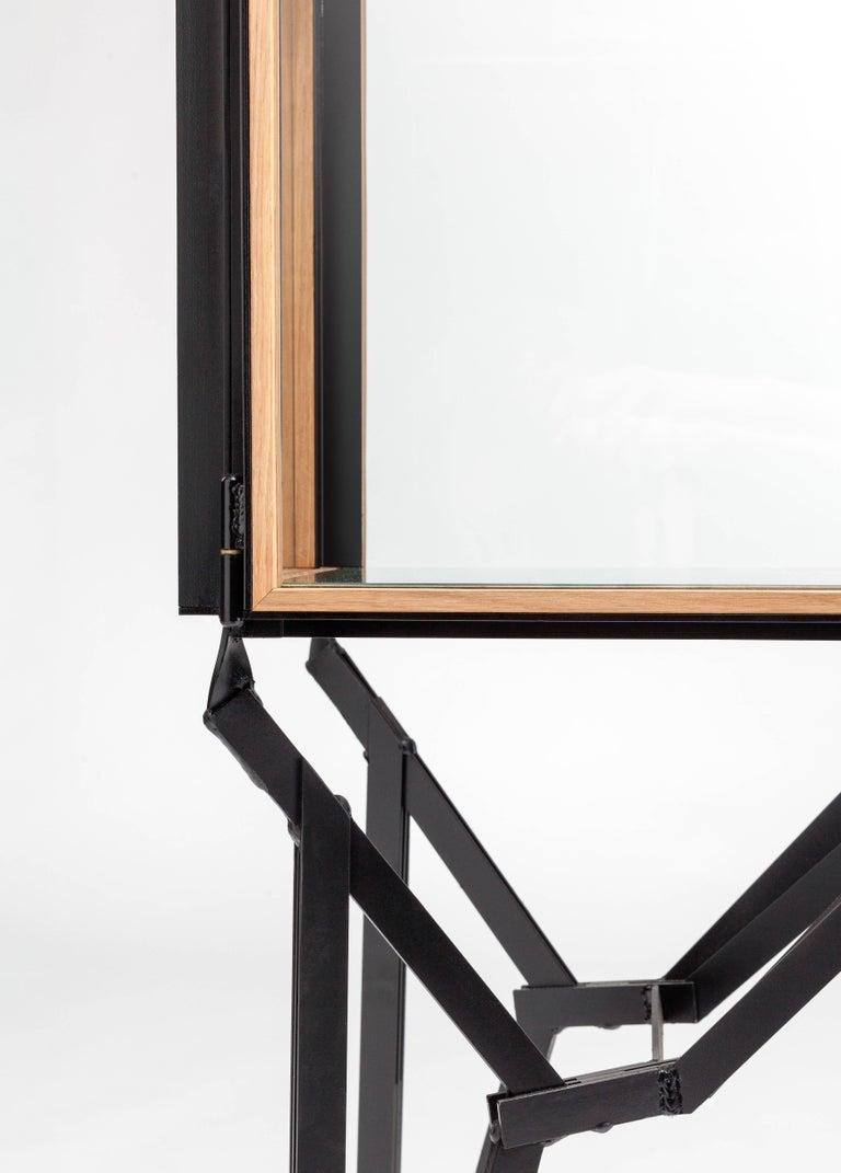 Contemporary 4 x 2 Blk Oak Showcase Cabinet by Paul Heijnen, Handmade in Netherlands For Sale