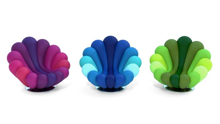 Other Anemone Purple Armchair By Giancarlo Zema For Giovannetti For Sale