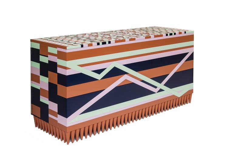 Contemporary Handcrafted Ziggy Cabinet by Leonardo Di Caprio  For Sale 2