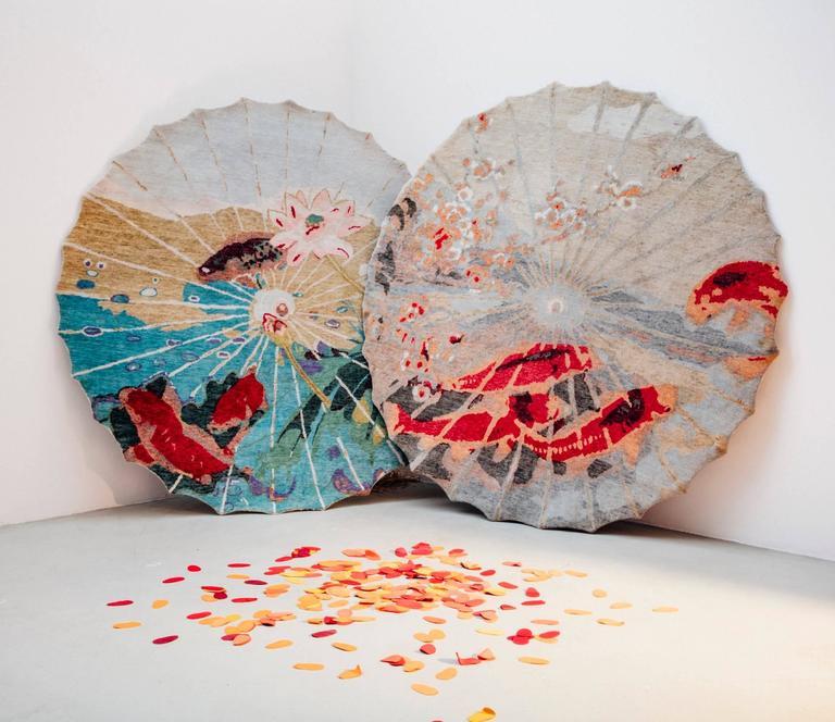 Handgefertigter Teppich mit Koi-Muster von Vito Nesta 3