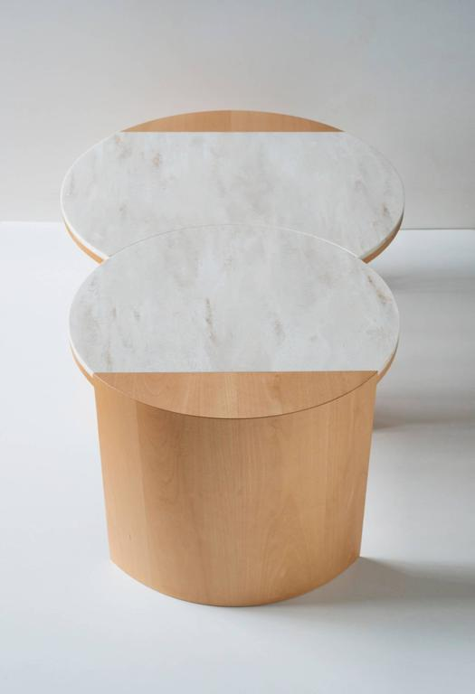 Contemporary Gibbous Coffee Table in European beech with Witch Hazel Corian. 3