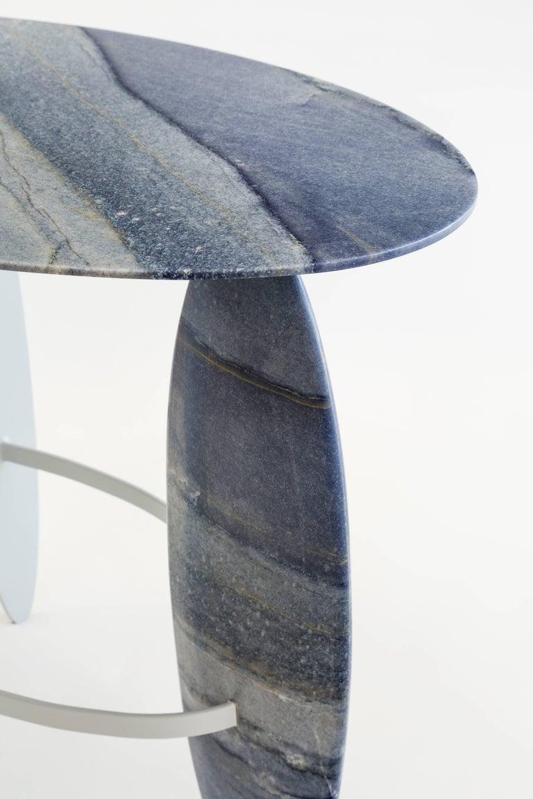 Other Pablina Azul Macaubas Side Table by Leonardo Di Caprio For Sale