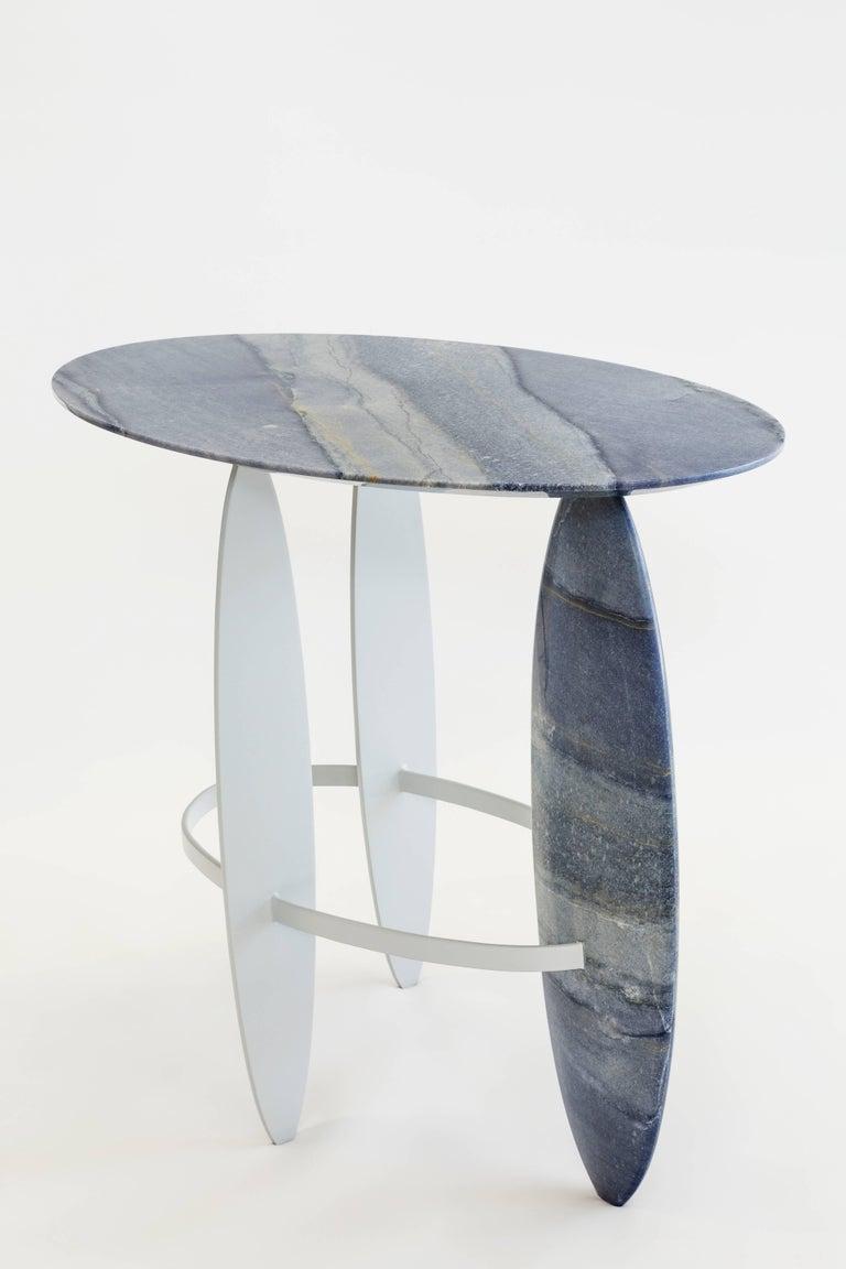 Brazilian Pablina Azul Macaubas Side Table by Leonardo Di Caprio For Sale