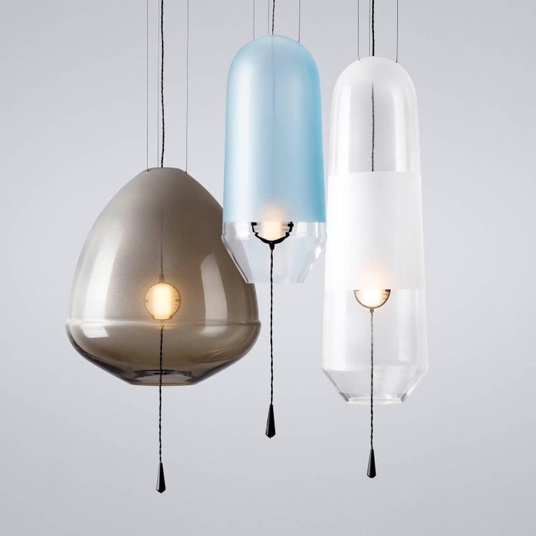 Durchsichtige runde weiße Lampe von Vantot, hergestellt in Deutschland 3