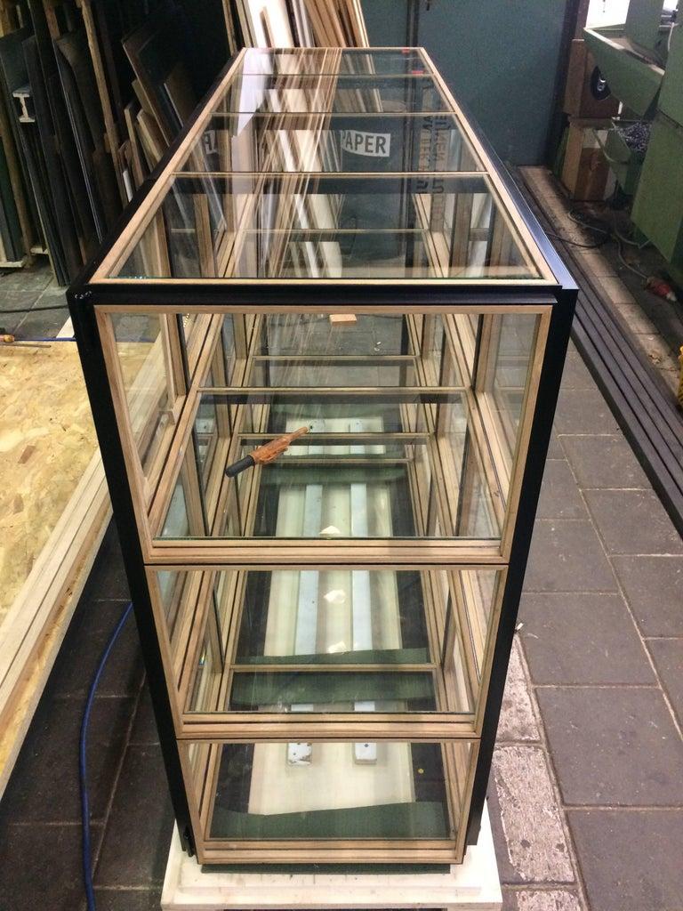 Other Blk Oak Showcase Cabinet by Paul Heijnen, Handmade in Netherlands For Sale