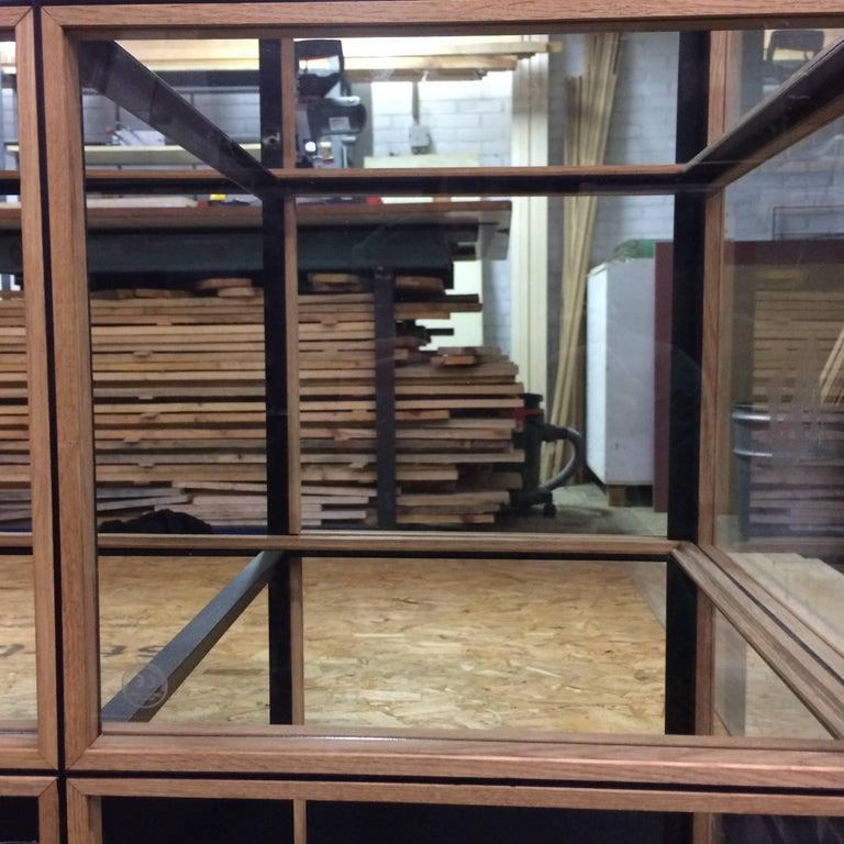 Dutch Blk Oak Showcase Cabinet by Paul Heijnen, Handmade in Netherlands For Sale