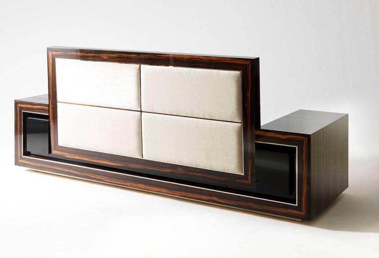 Macassar Ebony Sofa By Sd Mobili Handmade In Italy For