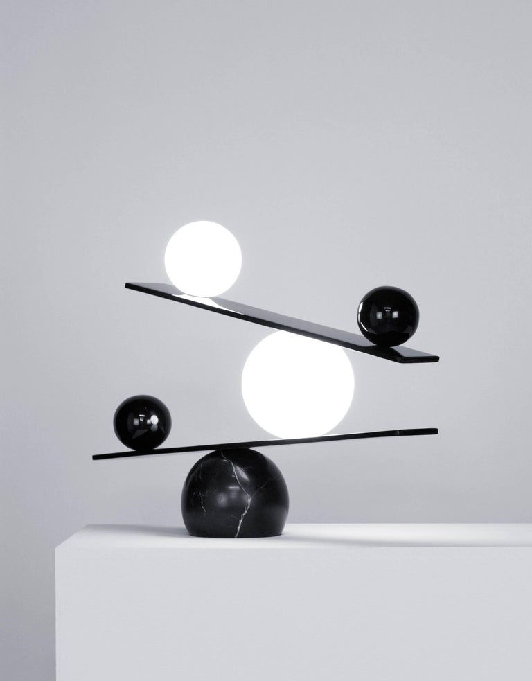 Opal Balance Table Lamp by Victor Castanera for Oblure For Sale
