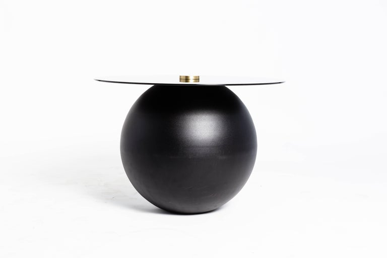 Canadian Pluto Black Coffee Table by Ben Barber Studio For Sale