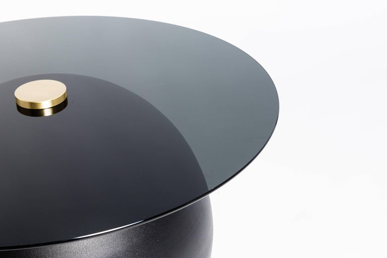 Contemporary Pluto Black Coffee Table by Ben Barber Studio For Sale