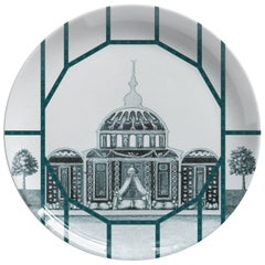 Toptaki Green Porcelain Dinner Plate by Vito Nesta for Les Ottomans