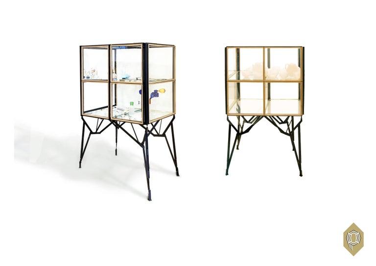 Blk Oak Showcase Cabinet by Paul Heijnen, Handmade in Netherlands In New Condition For Sale In Firenze, IT