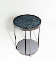 Hemlock Indigo Side Table by Merve Kahraman