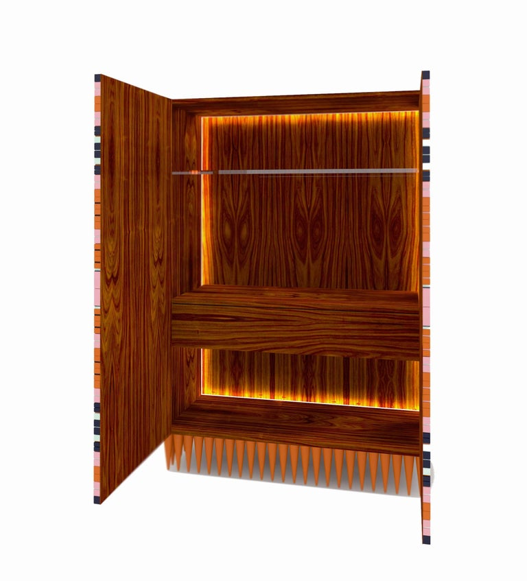You can now add a plus of style to your home, with a unique piece of furniture, called Ziggy Bar Cabinet and created by Brazilian designer Leo Di Caprio. Made of wood in its interior and with MDF structure, Ziggy is finished in matte and glossy