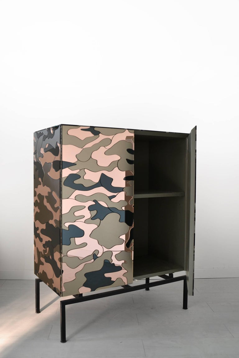Other Camouflage Cabinet, Unique Piece by Effetto Vetro For Sale