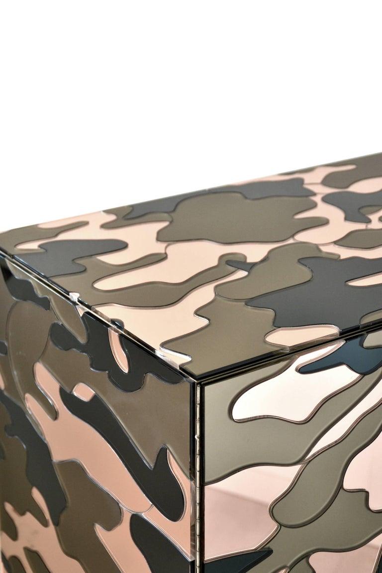 Italian Camouflage Cabinet, Unique Piece by Effetto Vetro For Sale