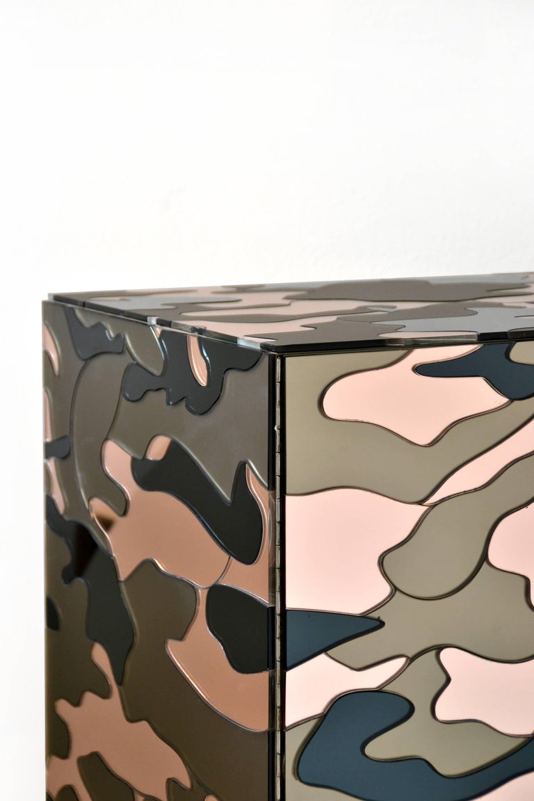 Camouflage Cabinet, Unique Piece by Effetto Vetro In New Condition For Sale In Firenze, IT